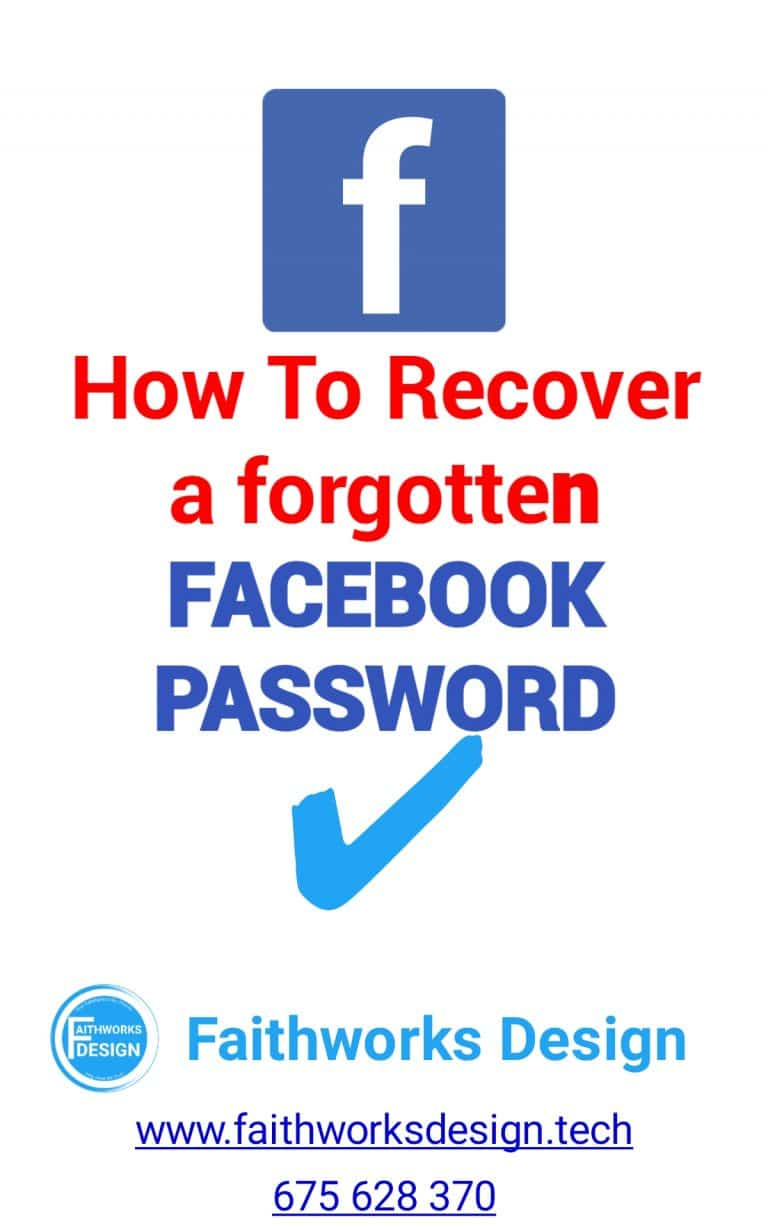 Read more about the article How to Recover your forgotten facebook password