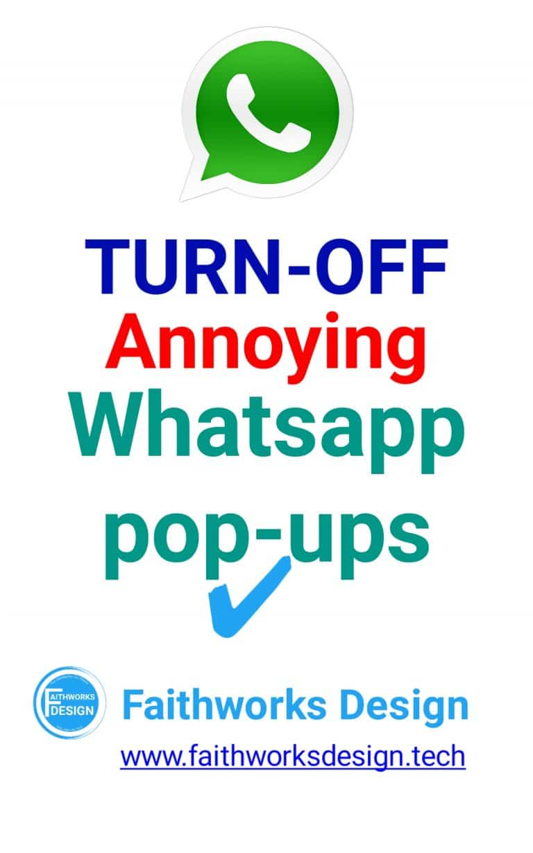 Read more about the article Turn off annoying whatsapp pop up messages